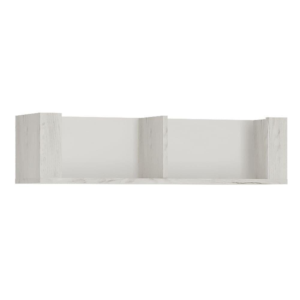 Argon 84cm Wall Shelf in White Craft Oak